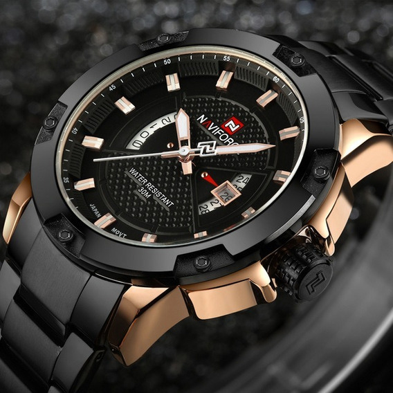 Relógio Masculino Naviforce Nf9085 Original 30 Metros