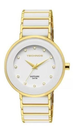 Imagem 1 de 10 de Relógio Technos Ceramic/saphire Feminino Analógico 2035lmm/4