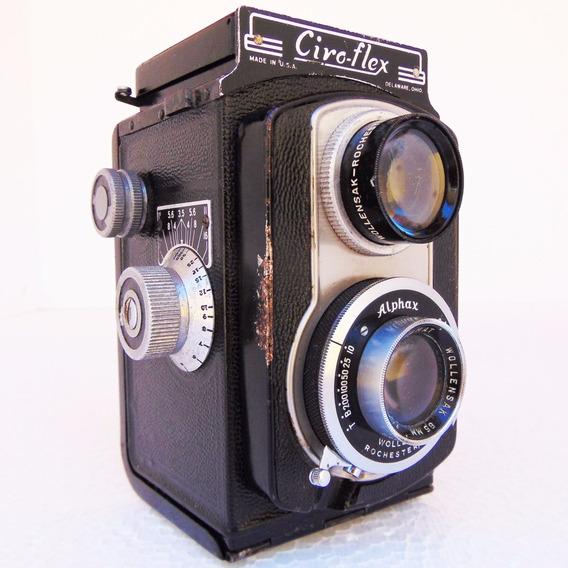 Antiga Maquina Fotográfica Câmera Ciro-flex Coleção Antigo