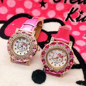 Relógio Infantil E Feminino Hello Kitty Quartzo Pedras