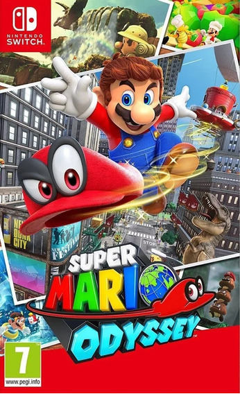 Super Mario Odyssey Nintendo Switch Midia Fisica Lacrada