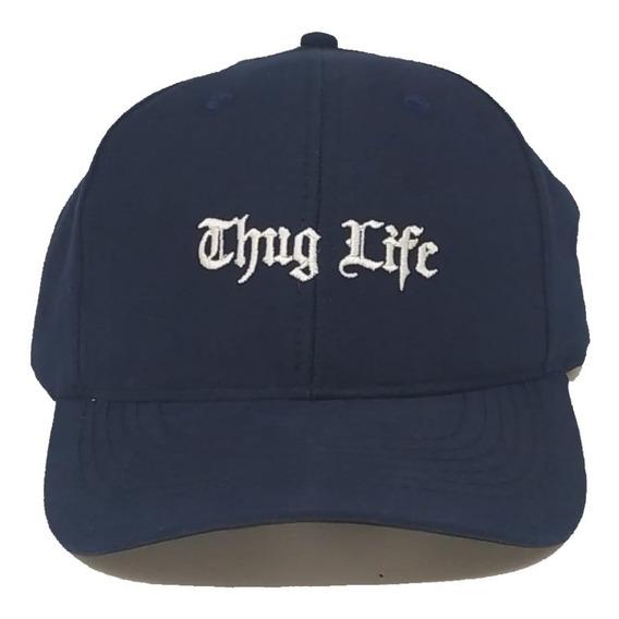 Boné Thug Life Fitão Aba Curva Premium Strapback