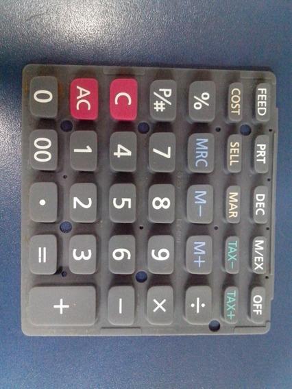 Borracha Do Teclado Condutiva P/ Calculadora Casio Hr-8tm