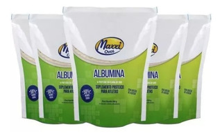 5x Albumina Maxxi Ovos 500g ( Total 2,5kg) Sabores