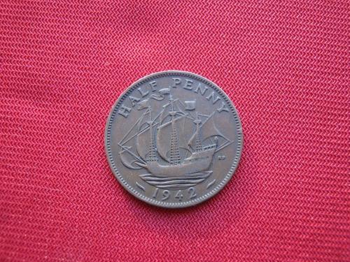 Imagen 1 de 2 de Gran Bretaña 1/2 Penny 1942
