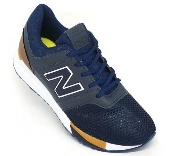 Tênis New Balance 247 Revlite Azul E Caramelo
