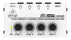 Powerplay Amplificador Ha400 Behringer 4 Fones Somos Loja