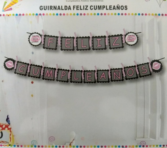 Guirnalda Banderín Feliz Cumpleaños Cotillón Infantil