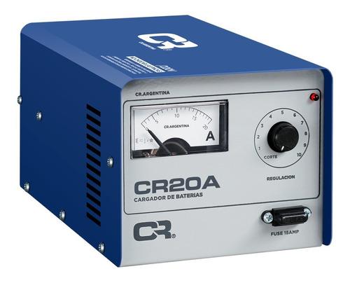 Cargador Bateria Cr 20amp 12v C/regulacion Auto Moto Lancha