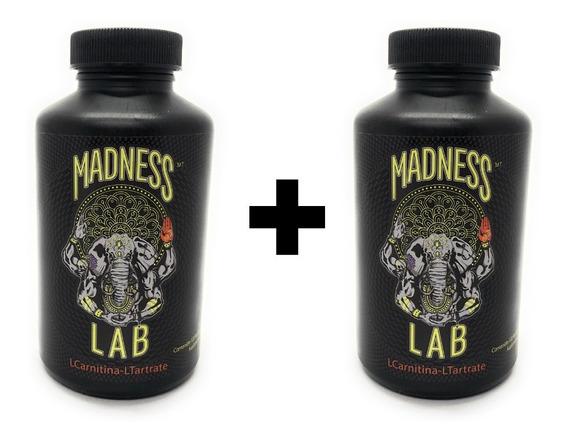 Madness Lab L-carnitina 120 Cápsulas De 250 Mg (2 Unidades)