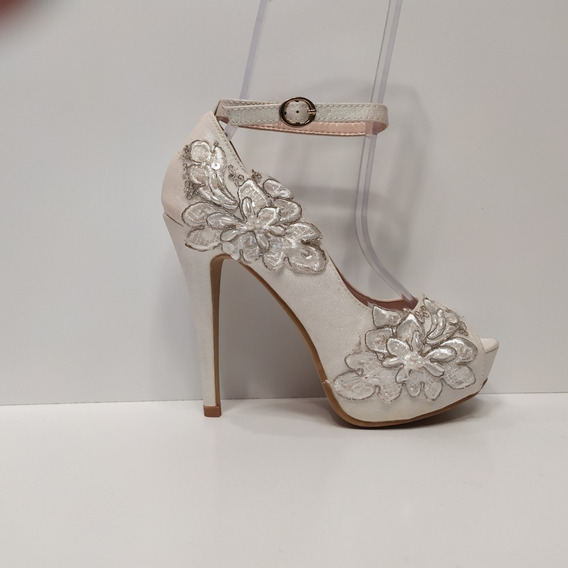 Zapato Dama Taco Aguja 12cm Especial Novias