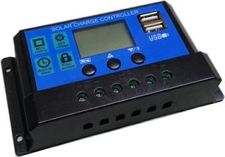 Regulador Panel Solar Controlador De Carga 20a 12v 24v