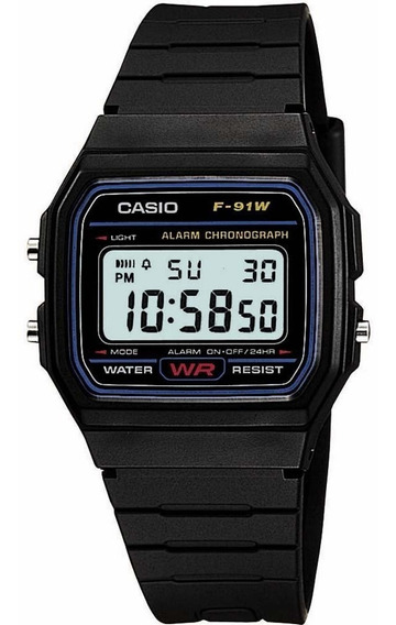 Relógio Masculino Casio Digital Esportivo F-91w-1dg