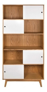 Librero Gaia Evo Madera Moderno Mueble Juguetero Blanco