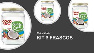 Óleo De Coco Extravirgem Kit 3 X 500ml - Coco Show (copra)