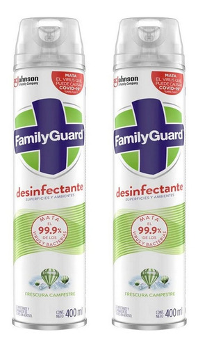 Family Guard Desinfectante Superficies Y Ambientes Aerosol