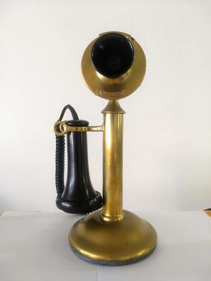 Telefone Antigo Castiçal Cisne Western Eletric Cº 1910