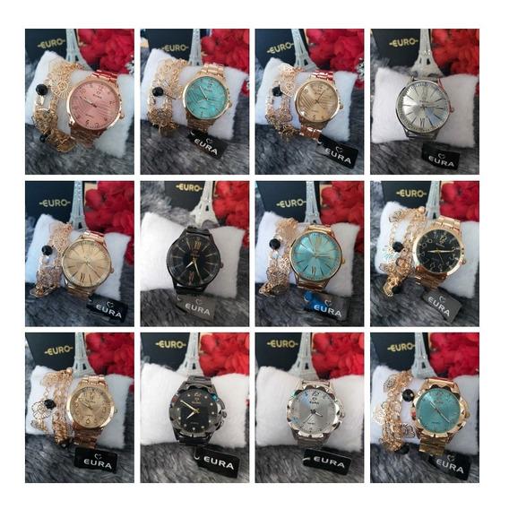 Relógio Eura - Feminino + Pulseira Brinde