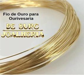 Fio De Ouro P/ Ourivesaria 18k-750 Peso 0,25g (1/4 De Grama)