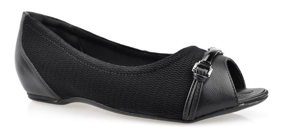 Peep Toe Anabela Comfortflex Feminino Linha Conforto 1876303