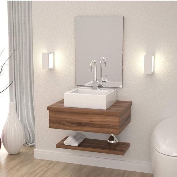 Conjunto Para Banheiro Gabinete Com Cuba Q35 E Gf