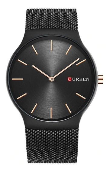 Relógio Curren 8256 Quartzo Luxo Ultra Thin Drop