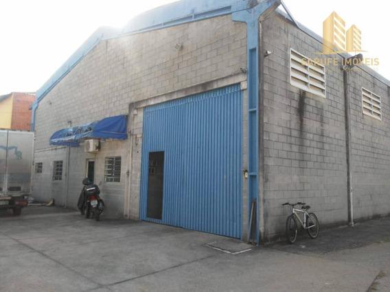 Galpão Para Alugar, 750 M² Por R$ 12.000/mês - Residencial União - São José Dos Campos/sp - Ga0006