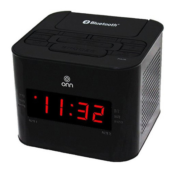 Reloj Despertador Bocina Bluetooth Radio Alarma Cargador Usb