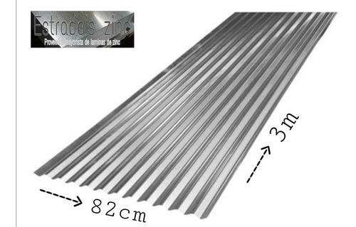 Teja De Zinc 3 Mts C35 0,17mm - Unidad a $34900