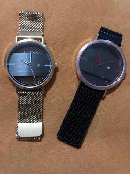 Reloj Touch Con Broche De Iman