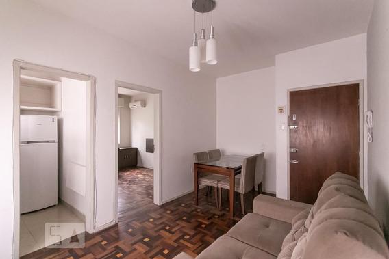 Apartamento No 1º Andar Mobiliado Com 1 Dormitório - Id: 892981931 - 281931