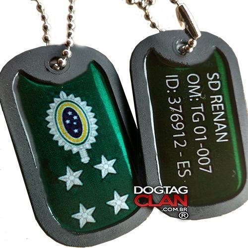 Dog Tag Militar Cordão Militar Do Exército Gravado Com Seus