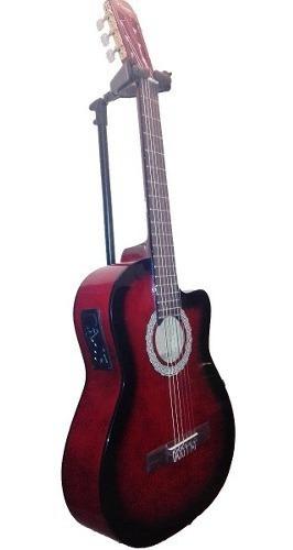 Guitarra Criolla Parquer Master Con Corte Y Eq Roja