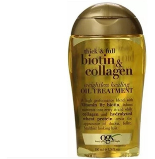 Biotin E Collagen Oil Treatment Organix 100ml Entrega Rápida