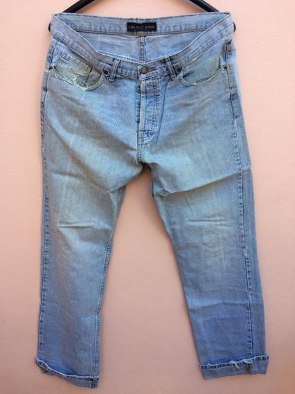 Jean Ona Saez Pantalon Hombre Celeste Recto Talle 44