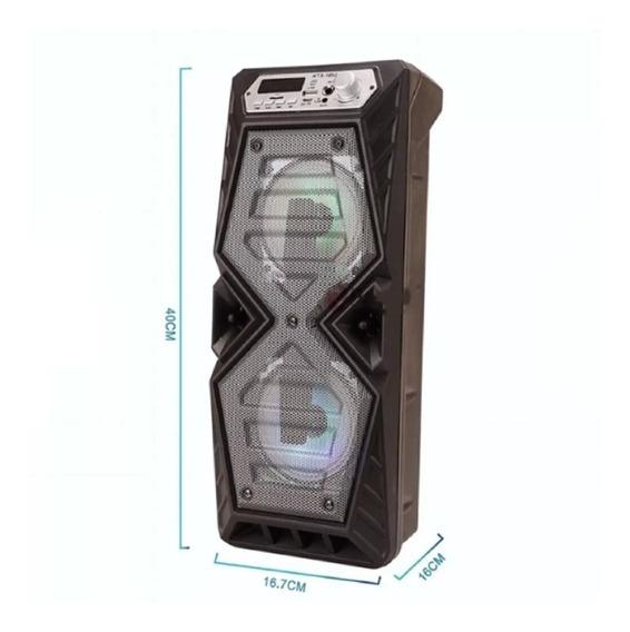 Caixa De Som Bluetooth Usb Sd Xzhang Xzk-1052 Função Karaokê
