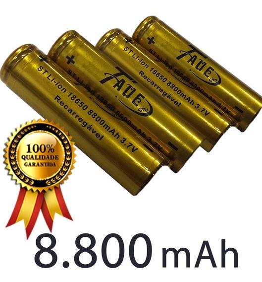 Bateria 18650 8800mah 3.78v Recarregável Li-ion Taue - 4 Und