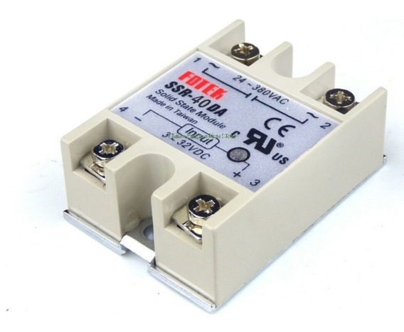 Ssr-40 Solid State Relay Rele Arduino Autom. Max 40a 380v Ac