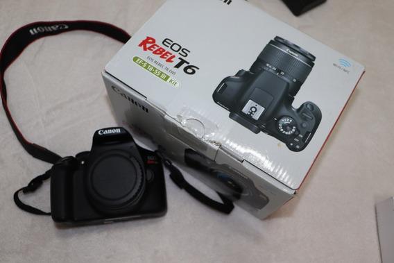 Câmera Canon T6 (com Defeito, Não Liga) P/ Retirada Peças
