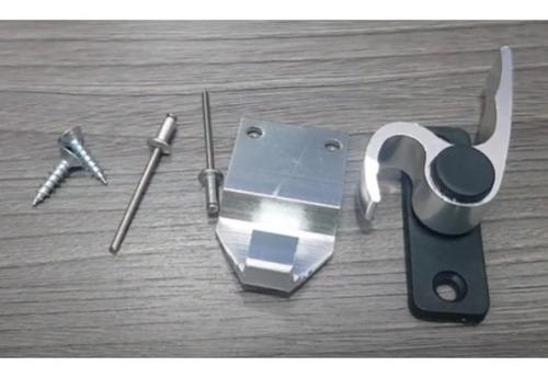 Fecho Aluminio 1/2 Lua Para Portas Janelas 751 Brilhante