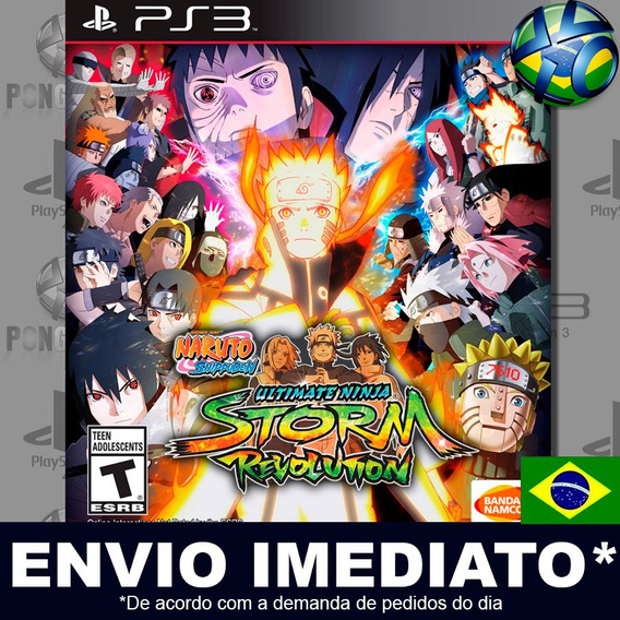 Naruto Shippuden Storm Revolution Ps3 Psn Legendas Br