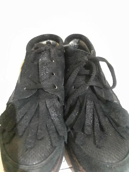 Zapatillas Marca Viamo Negras Flecos