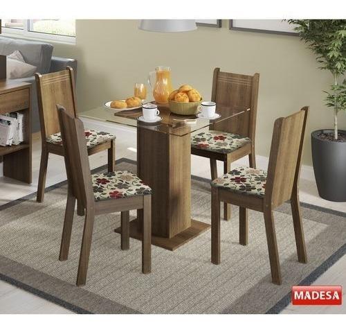 Conjunto Mesa De Jantar 5332 Magda Madesa Com 4 Cadeiras 429