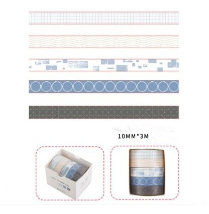2 Kits De Washi Tape / 5 Fitas Adesivas Decoradas