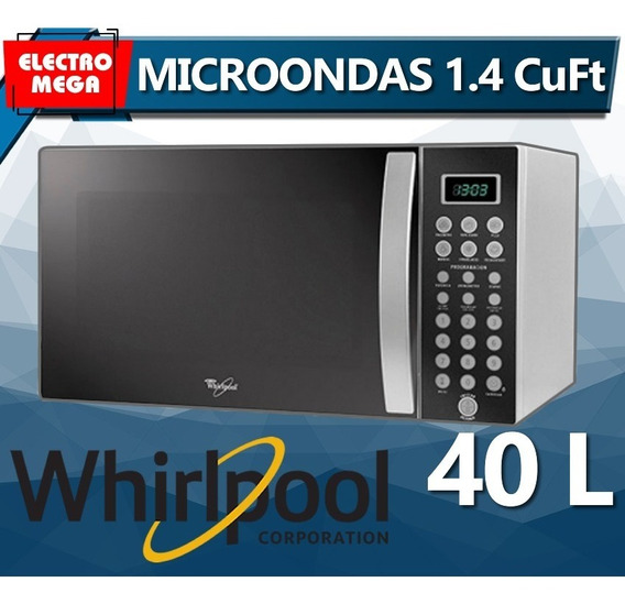 Microondas Whirlpool 1.4 Cuft 40 Litros Tipo Espejo