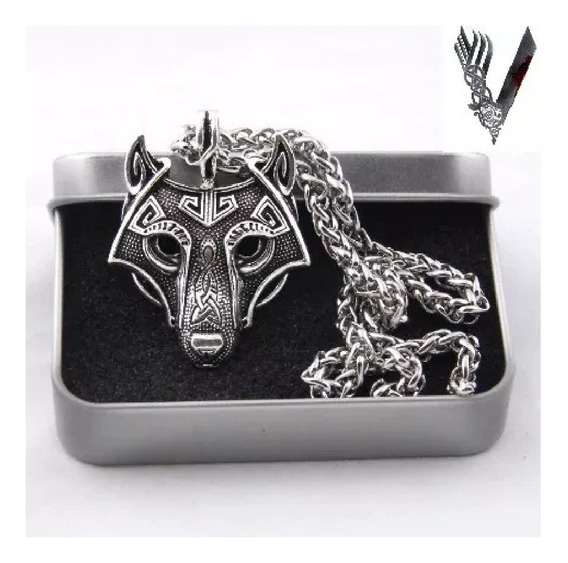 Collar Serie Vikings Ragnar Lobo Amuleto Nordico Unisex