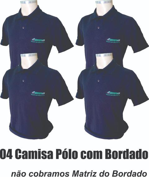 04 Camisa Polo Uniforme Profissional Bordado Logomarca
