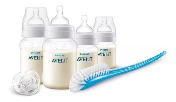 Set Recien Nacido Philips Avent Scd806/19 Mamadera Anticolic