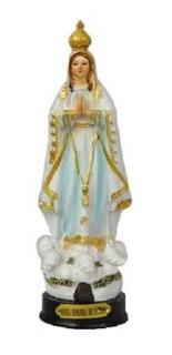 Imagem Nossa Senhora De Fatima Em Resina Com Detalhes 16cm