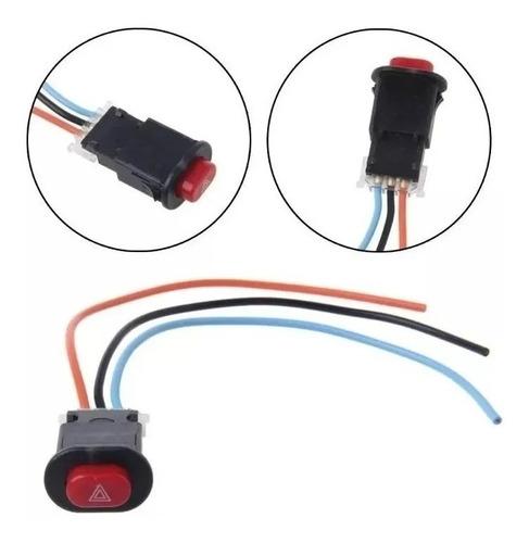 Interruptor Pisca Alerta Universal Para Adaptação Motos.